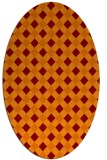 rug #671205 | oval red-orange check rug