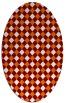 rug #671209 | oval orange check rug