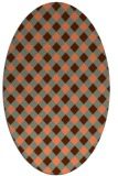 rug #671217 | oval red-orange check rug