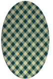 rug #671221 | oval yellow check rug