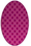 rug #671225 | oval check rug