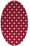 rug #671233   oval pink check rug
