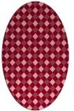 rug #671234 | oval check rug