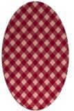 rug #671235 | oval check rug