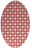 rug #671237 | oval check rug