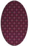 rug #671241 | oval purple check rug