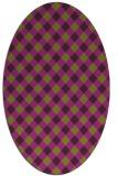 rug #671245 | oval purple check rug