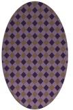 rug #671249 | oval purple check rug
