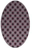 rug #671253   oval purple check rug
