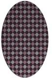 rug #671255 | oval check rug