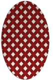 rug #671265 | oval red check rug