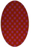 rug #671269 | oval red check rug