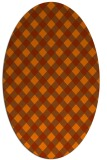 rug #671273 | oval red-orange check rug