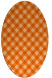 rug #671277 | oval red-orange check rug