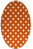 rug #671285 | oval red-orange check rug