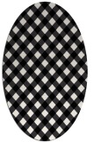 rug #671289 | oval white check rug