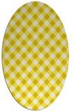 rug #671293   oval white check rug