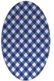 rug #671297 | oval blue check rug