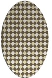 rug #671309 | oval yellow check rug