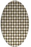 rug #671309 | oval white check rug