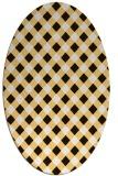 rug #671313   oval brown check rug