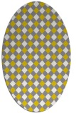 rug #671317 | oval yellow check rug