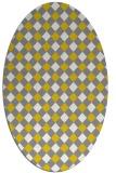rug #671317 | oval white check rug