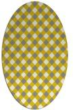 rug #671320   oval check rug