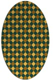 rug #671321 | oval yellow check rug
