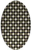 rug #671327 | oval check rug