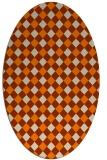 rug #671333 | oval orange check rug