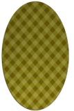rug #671337 | oval light-green check rug
