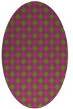 rug #671345 | oval light-green check rug