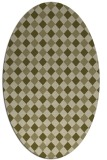 rug #671349 | oval light-green check rug
