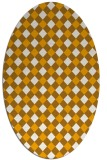 rug #671353 | oval light-orange check rug