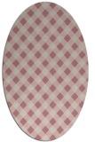 rug #671357   oval pink check rug