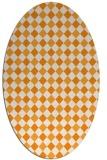 rug #671361 | oval light-orange check rug