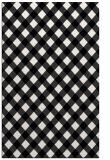 rug #671373 |  black check rug