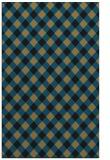 rug #671389 |  mid-brown check rug