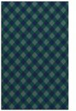 rug #671401    blue-green check rug