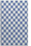 rug #671409 |  blue check rug