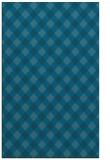 rug #671417    blue-green check rug