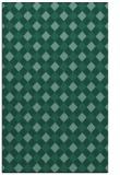 rug #671425 |  blue-green check rug