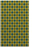rug #671429 |  blue-green check rug