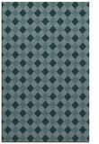 rug #671441    blue-green check rug