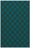 rug #671445 |  blue-green check rug