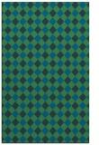 rug #671449 |  blue-green check rug
