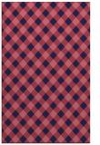 rug #671461    blue-violet check rug