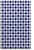 rug #671473 |  blue-violet check rug