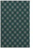 rug #671497    green check rug